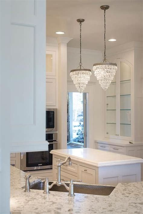 drop lights for kitchen island pottery barn clarissa drop small chandeliers