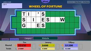 tim39s slideshow games wheel of fortune for powerpoint With wheel of fortune board template