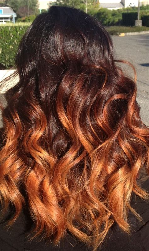 Orange Brown Ombre Hair Hair Pinterest Caramel Ombre