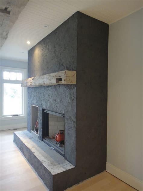 American Clay Plaster  Custom Slate Fireplace Ontario