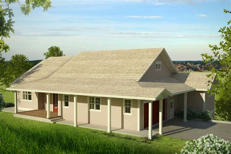 New Country House Plan Fits On Downhill Sloping Lot