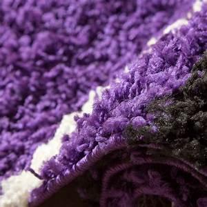 Teppich Bettumrandung 3 Teilig : shaggy l ufer bettumrandung hochflor teppich vigo gemustert lila schwarz 3er set hochflor teppich ~ Bigdaddyawards.com Haus und Dekorationen