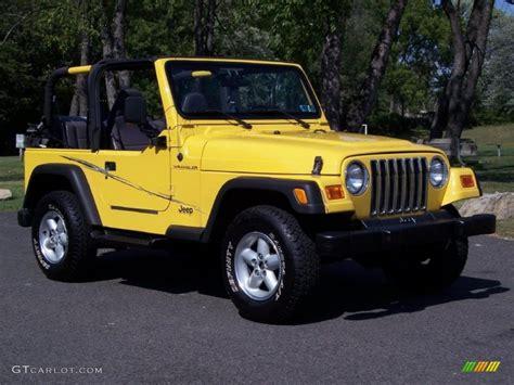 jeep yellow 2001 solar yellow jeep wrangler se 4x4 36063879