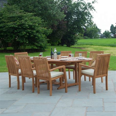 Garden Table Chairs by Classic Teak Garden Furniture Dining Set Eight Seat Oval