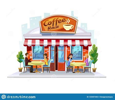 Beer in mug illustration, beer oktoberfest cartoon, beer cup cartoon graphics transparent background png clipart. Colorful Coffeeshop Building. Summer Street Cafe Terrace ...