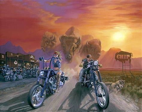 28 Stunning Motorcycle Paintings That Will Make You Proud