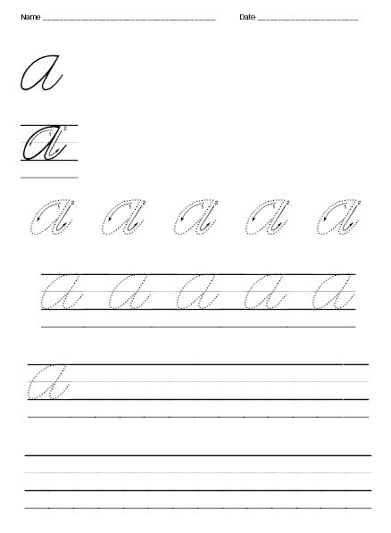 free tracing cursive worksheets a z