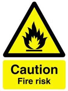 Caution Light ws104 caution fire risk sign