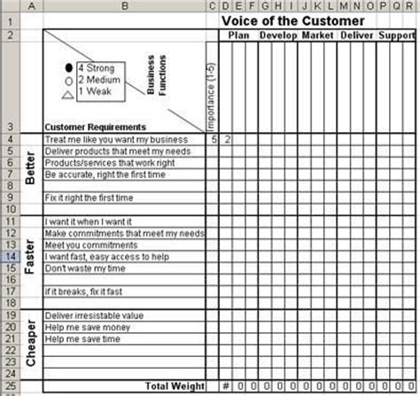 voice   customer matrix  excel voice