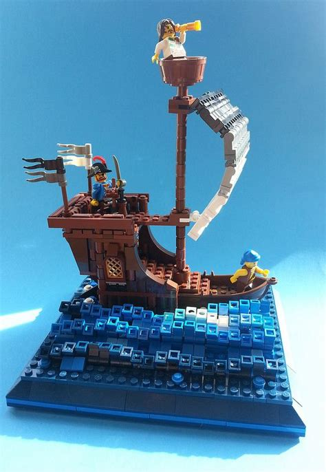 Lego Boat Pirate by Clear Skies Lego Pirate Ship Lego And Legos