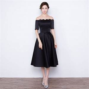 2016 new fashion short black evening dress tea length With black cocktail dresses for weddings