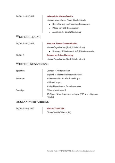 Standard Lebenslauf Vorlage by 17 Standard Lebenslauf Vorlage Sporting Lincs