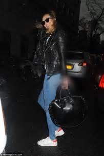 Karlie Kloss Smiles Her Blonde Tresses Whip The Wind