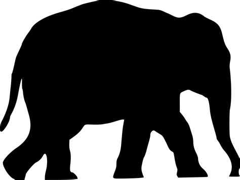 onlinelabels clip art elephant silhouette