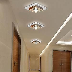 Cree modern w led crystal ceiling lights flush mount
