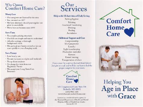 comfort home care comfort care nursing home creative printing