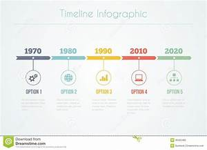 Timeline Infographic Stock Vector  Illustration Of