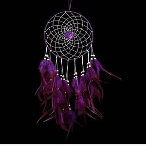 Attrape Reve Boheme : attrape r ves violet avec plumes boh me dreamcatcher ~ Teatrodelosmanantiales.com Idées de Décoration