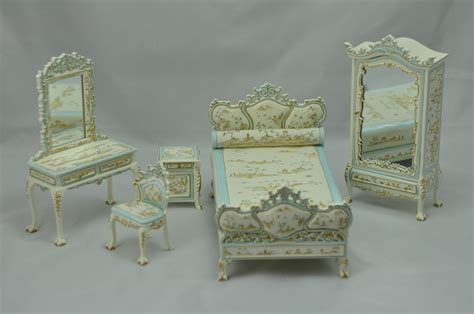 Dollhouse Bedroom Furniture by Bespaq Dollhouse Miniature Bedroom Furniture Set Bed