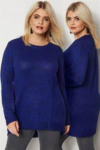 285 25 20 : blauer schwarzer pullover aus melange strick gro e ~ Jslefanu.com Haus und Dekorationen