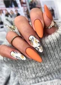 40 beautiful nail design ideas to wear in fall orange