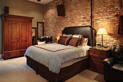 stunning bedrooms  brick walls interior god