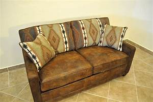 Old antique and vintage brown leather twin size sleeper for Sectional sleeper sofa with storage and pillows