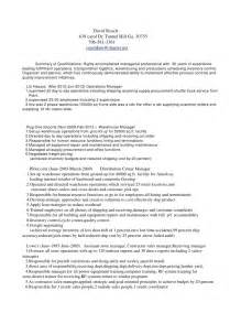 distribution manager resume cover letter david roach distribution manager resume