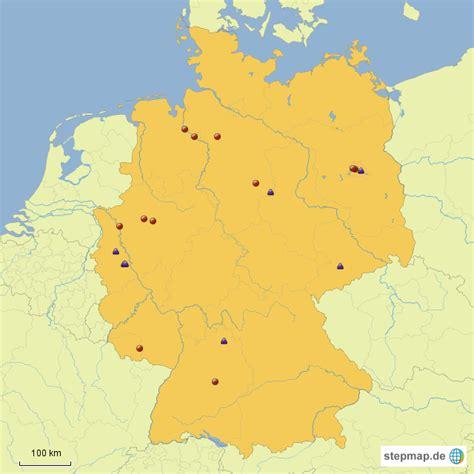kohlekraftwerke von monetec landkarte fuer deutschland