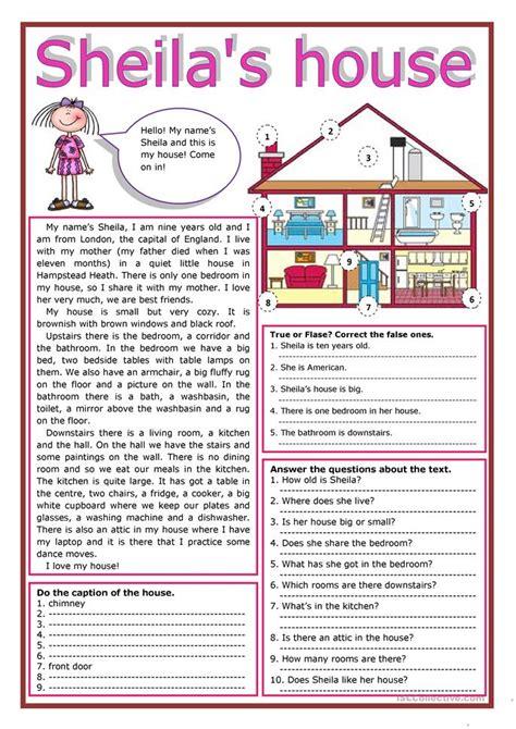 esl rooms   house worksheets