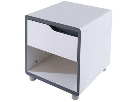 chambre moby chevet 1 tiroir moby coloris blanc gris vente de chevet