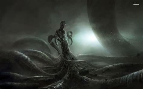eerie creature wallpaper fantasy wallpapers