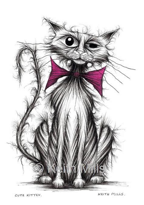 cute kitten print  shabby tatty pet kitty cat