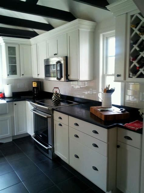 Black and White Kitchen   Traditional   Kitchen   other