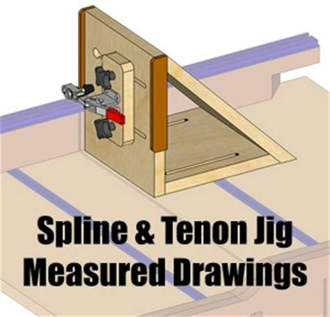 spline  tenon jig measured drawing
