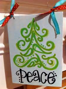Christmas Tree Paintings On Canvas