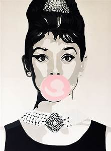 Audrey Hepburn painting acryl on canvas popart made by ...