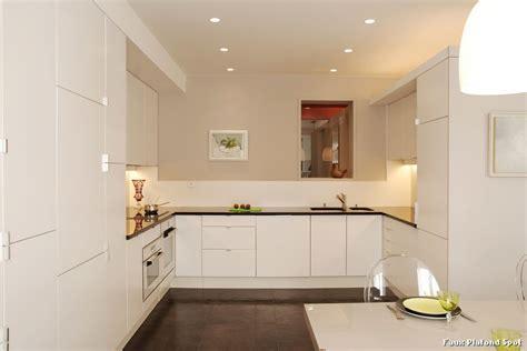 plafond de cuisine design faux plafond spot with contemporain cuisine décoration