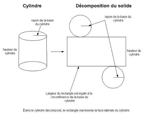 comment calculer la surface d une chambre aire latérale d 39 un cylindre forum mathématiques