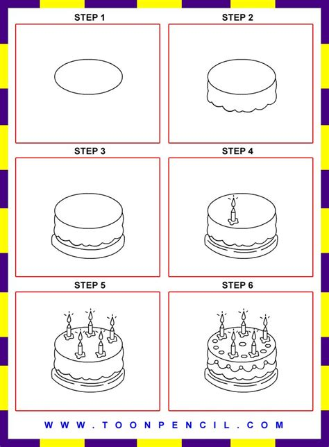 How To Draw A Cake For Kids Step By Drawing Easy Cakepins