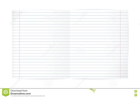 blank lined notebook sheet with diagonal lines and margin stock vector illustration of