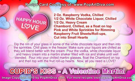 martini diva valentine martinis cupids kiss