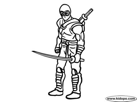 gi joe ninja coloring page