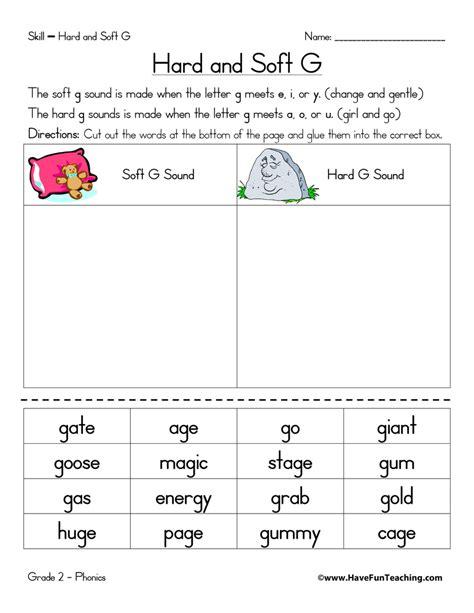 Hard G And Soft G Worksheet  Have Fun Teaching