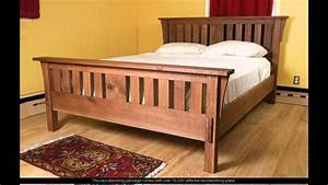 woodworking plans king bed frame - YouTube