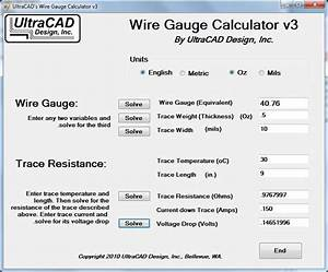 Ultracad Design Wire Gauge Calculator
