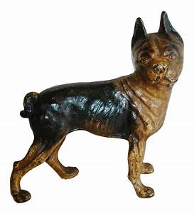 1940s iron boston terrier dog figurine doorstop chairish With kitchen cabinet trends 2018 combined with boston terrier wall art