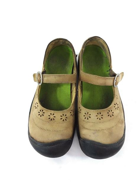 keen womens brown leather mary janes shoes size  ebay