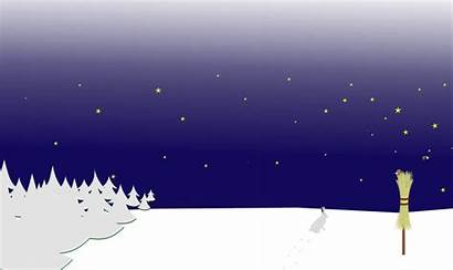 Winter Night Scene Clipart Scenery Background Transparent
