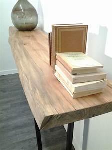 Console Bois Massif : console bois recycl tony cosme ~ Teatrodelosmanantiales.com Idées de Décoration